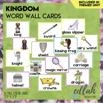 Kings & Queens Vocabulary Word Wall Cards (set of 12)