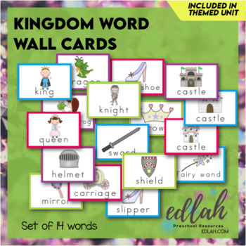 Kings & Queens Word Wall Cards (set of 12)