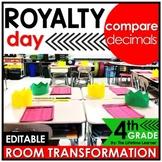 4th Grade Comparing Decimals Classroom Transformation - Kings and Queens