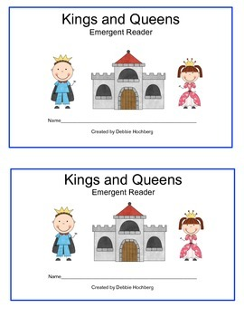 Kings and Queens-- Emergent Reader