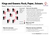 Kings and Queens: Rock, Paper, Scissors PE Fitness Activity