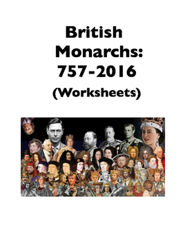 Kings and Queens of England and the U.K. (Worksheets)