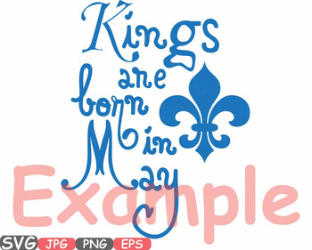 Kings are born in April May June clipart Royal King CROWN Birthday shirt -608s