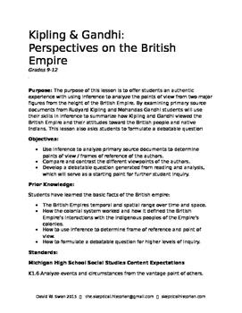 Kipling & Gandhi: Perspectives on the British Empire