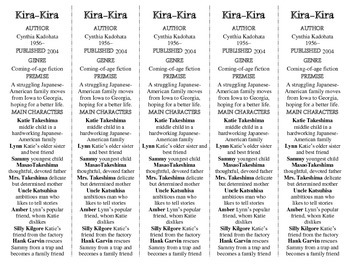 Kira-Kira edition of Bookmarks Plus—A Very Handy Little Reading Aid!