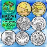 Kiribati Dollar (Currency Clip Art)