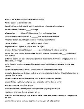Kirikou et la Sorciere- crossword review