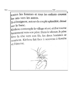 Kirikou reading questions: pages 121-123
