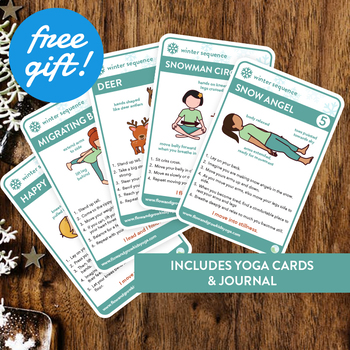 Kids Yoga Winter Sequence Yoga Pose Card Deck Journal Tpt