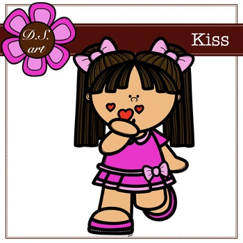 Kiss Blackboard Digital Clipart (color and black&white)