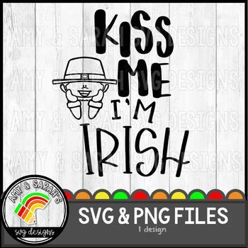 Kiss Me I'm Irish SVG Design