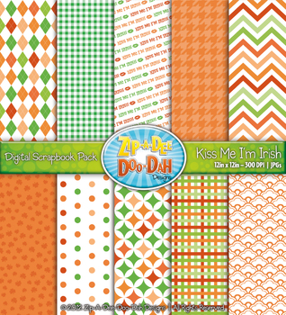 Kiss Me I'm Irish St. Patricks Day Digital Scrapbook {Zip-A-Dee-Doo-Dah Designs}