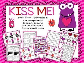 Kiss Me!  Numbers Valentine Pack
