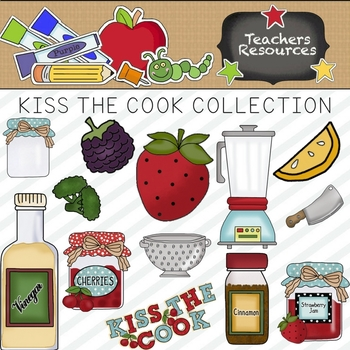 Kiss The Cook Clipart Collection ~ Commercial Use*