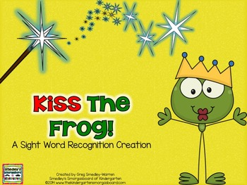 Kiss The Frog Fairy Tale Sight Words