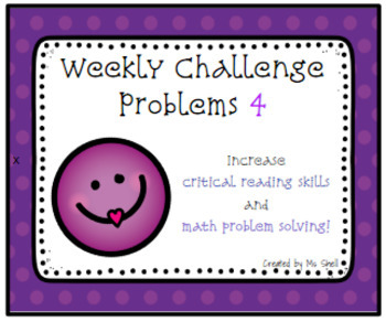 Weekly Challenge Problems 4