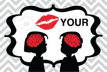 Kiss Your Brain reward cards or testing treat