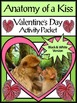 Valentine's Day Language Arts Activities: Kisses & Anatomy of a Kiss Bundle