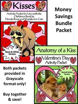 Valentine's Day Language Arts Activities: Kisses & Anatomy