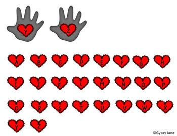 Kissing Hand ABC Activity
