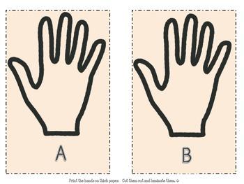 Kissing Hand Alphabet Match-Up Game