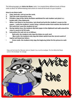 Chester's  Kindergarten Math and Literacy Packet