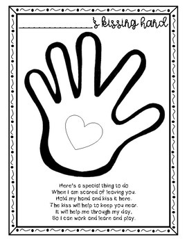 Kissing Hand Poem Craftivity
