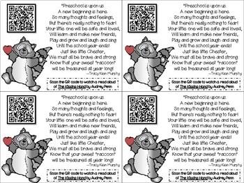 Kissing Hand QR Code Parent Poem