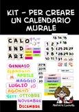 Kit - Calendario murale fantasia acquerello 1