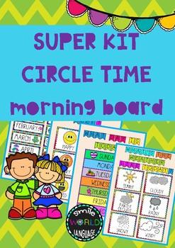 Kit Circle Time English Asamblea inglés Morning routine