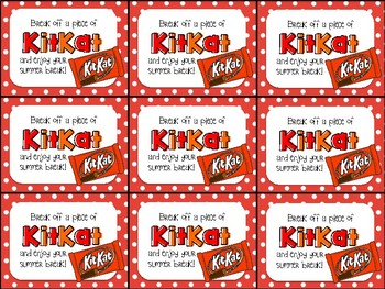 kit kat end of year gift tag break off a piece of kitkat and enjoy