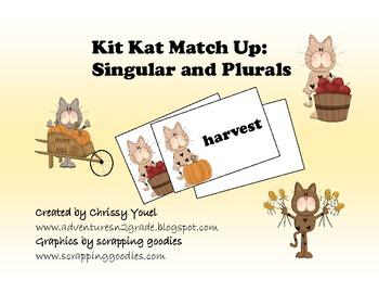 Kit Kat Match Ups:  Singular and Plural