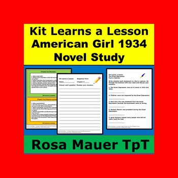 Kit Learns a Lesson American Girl Book Unit