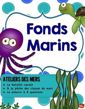 Kit de 5 ATELIERS// Fonds Marins
