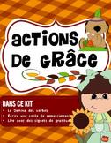 Activités temps d'Halloween /Automne/ Action de Grâce/Écriture/ French Immersion