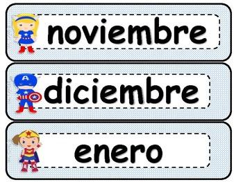 Kit de Calendario Super Heroes