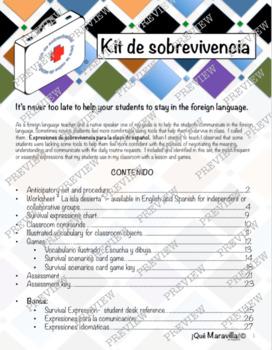 Kit de Sobrevivencia: Expresiones de sobrevivencia para la clase de español