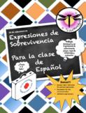 Expresiones de sobrevivencia clase de español  Puede usars
