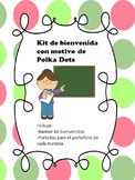 Kit de bienvenida con motivo de polka dots