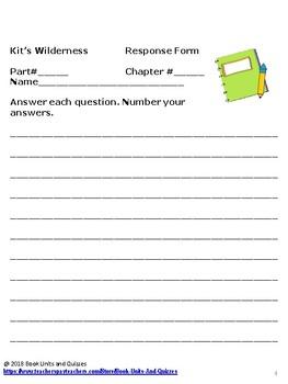 Kit's Wilderness Novel Study