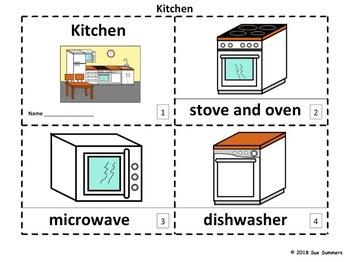 Kitchen 2 Emergent Reader Booklets in English