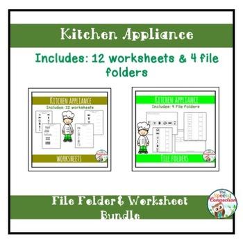 Kitchen Appliance Worksheet And File Folder Bundle