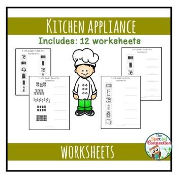 Kitchen Appliance Worksheets