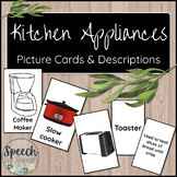 Kitchen Appliances Picture and Term Cards for Adult Speech
