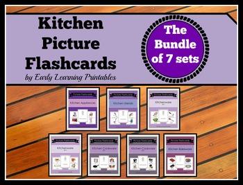 Kitchen BUNDLE (Set I-VII) Picture Flashcards