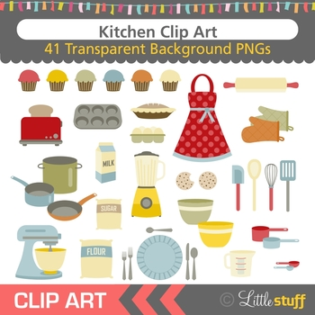 Kitchen, Baking, Cooking Clip Art (Set of 41)