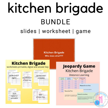 kitchen brigade bundle by fcs cooking food safety family consumer science - Kitchen Brigade