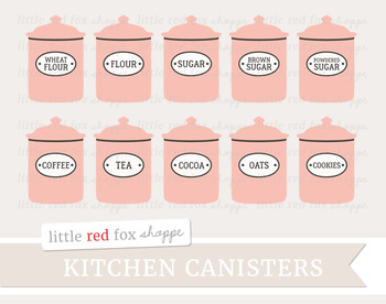 Kitchen Canister Clipart; Vintage, Container, Storage