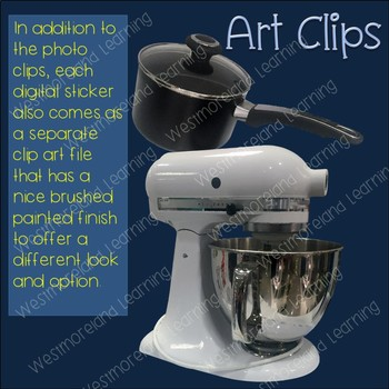 Kitchen Clip Art Photo & Artistic Digital Stickers Just Kitchens