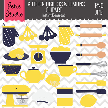 Kitchen Clipart // Cooking Clipart // Chef Clipart- Objects117